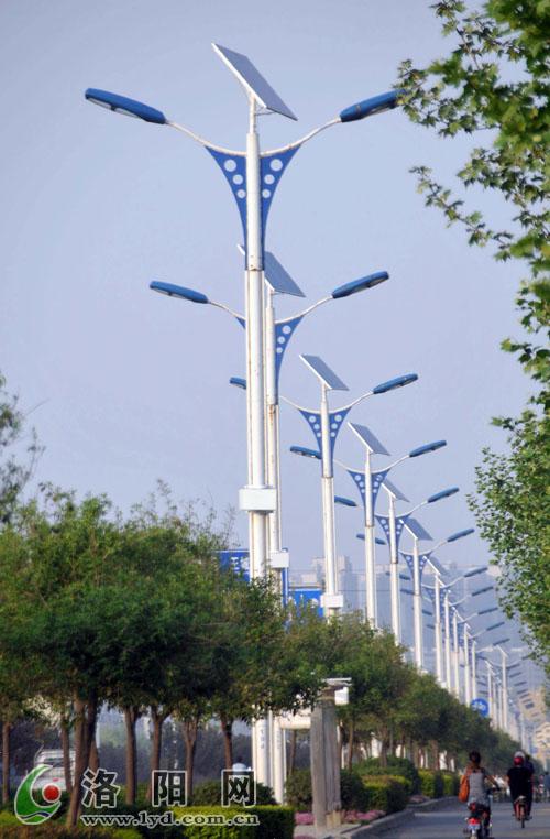 关林路新能源路灯改造完毕